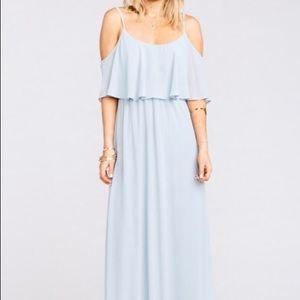 Show Me Your Mumu Caitlin Maxi Dress, Steel Blue
